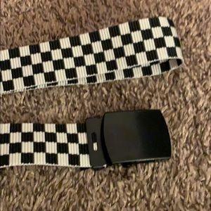 H&M Accessories - Checkerboard Buckle Belt
